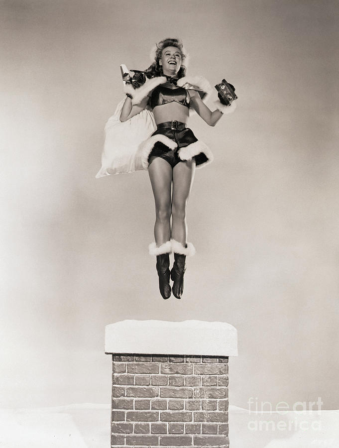 Vera Ellen Practicing Her Santa Leap Photograph by Bettmann