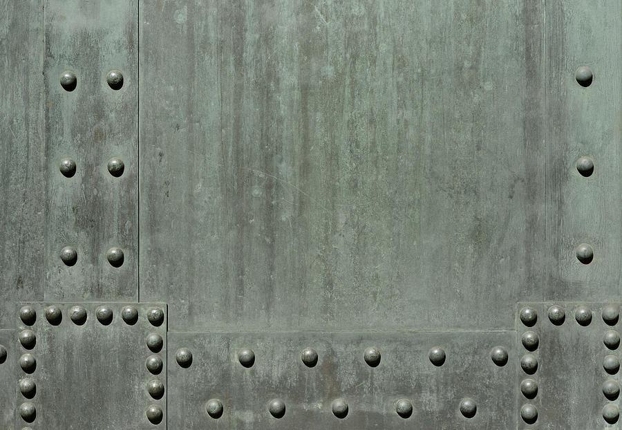 Verdigris Background With Rivets 3xl Photograph by Acilo