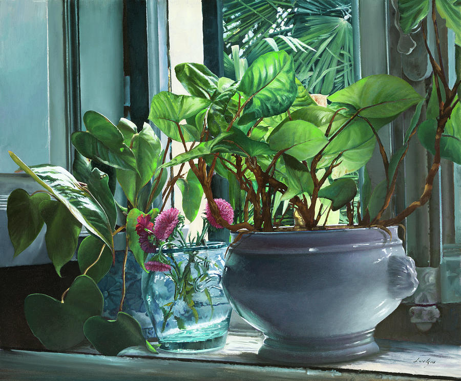 Green Leaves Painting - Verdissimo by Guido Borelli