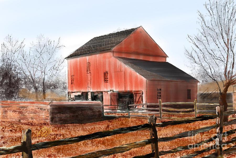 Vermillion Barn by Joel Deutsch