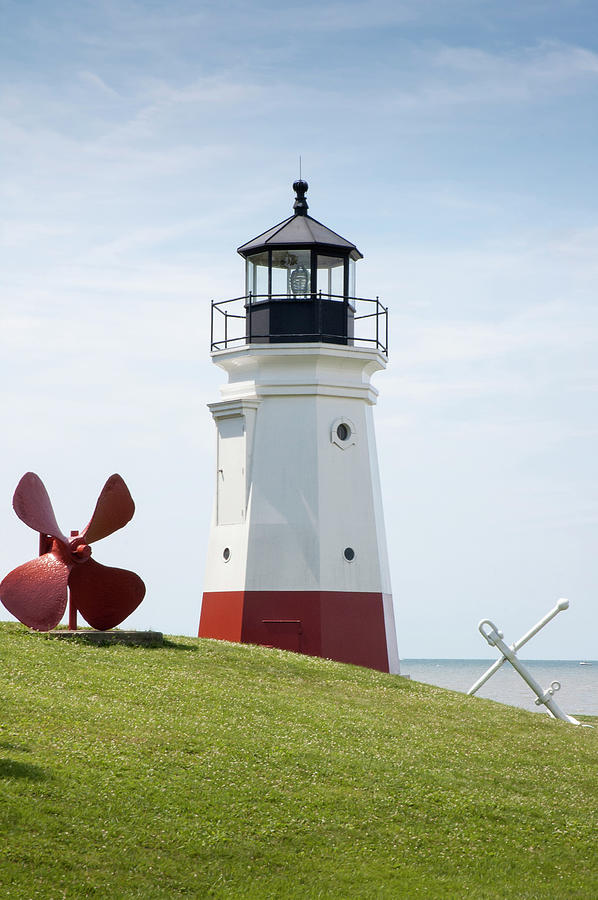 Vermillion Lighthouse Photograph by Westhoff
