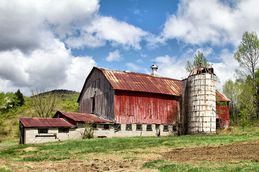 Vermont Barn and Silo  by Betty Pauwels