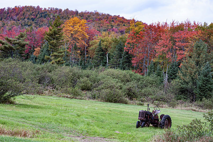 Vermont Tractor in Groton State Forest by Jeff Folger
