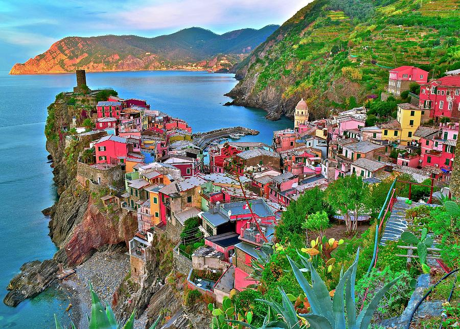 Vernazza Photograph - Vernazza Backside 2019 by Frozen in Time Fine Art Photography