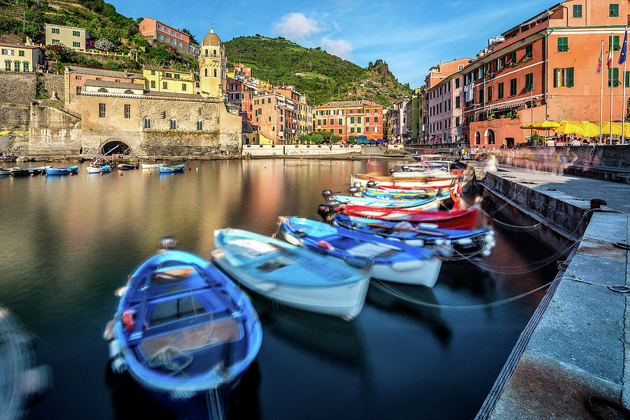 Italy Photograph - Boats in Vernazza by Andrei Dima