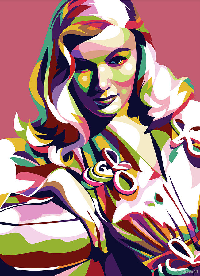 Veronica Lake by Stars on Art