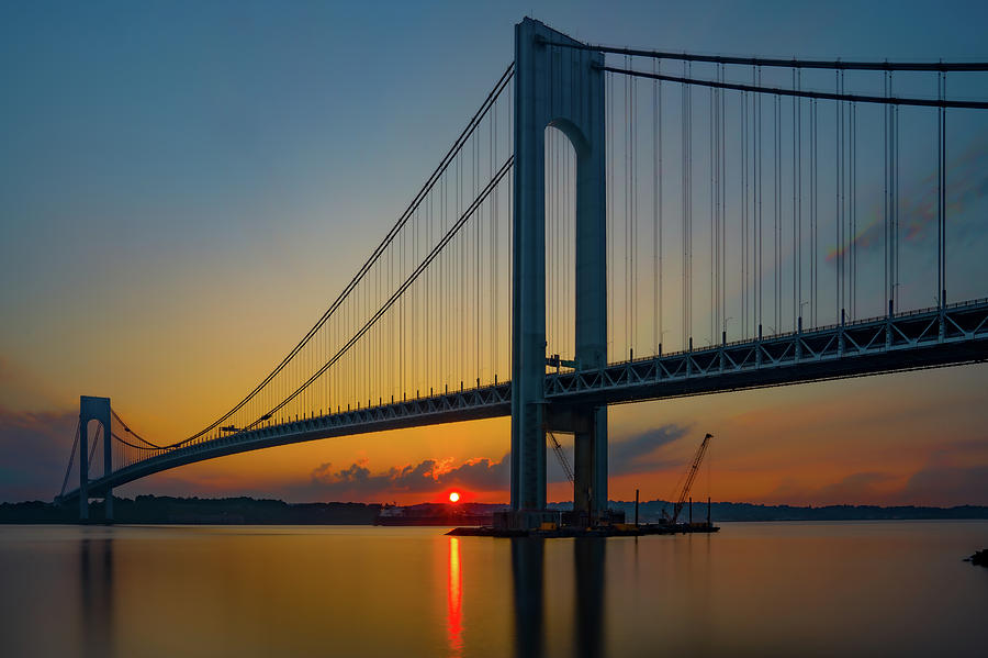 Verrazzano Narrows Sundown by Chris Lord
