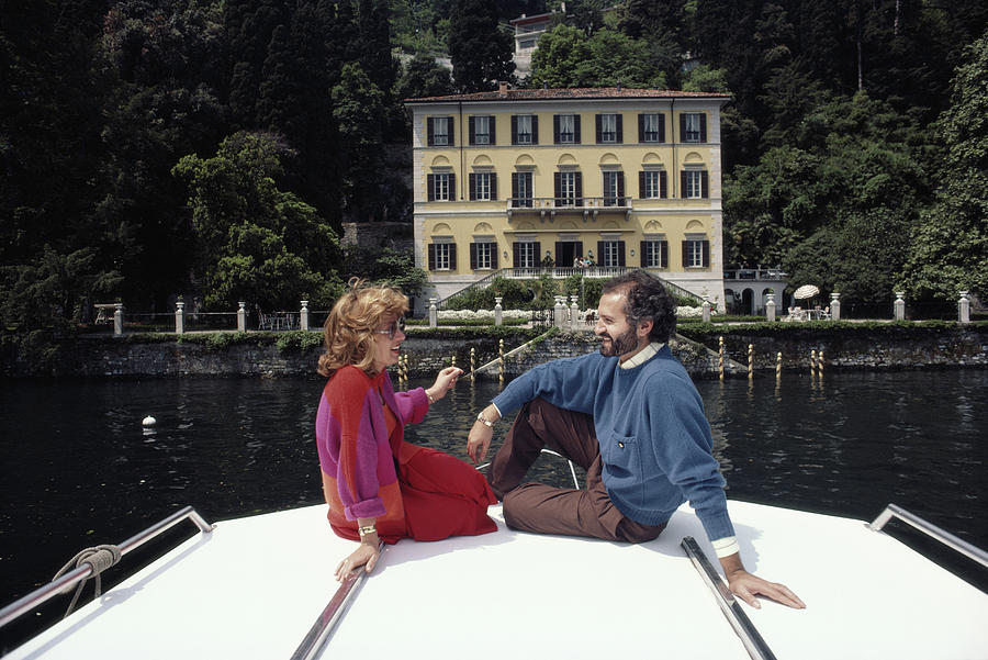 Versace And Spagnol Photograph by Slim Aarons