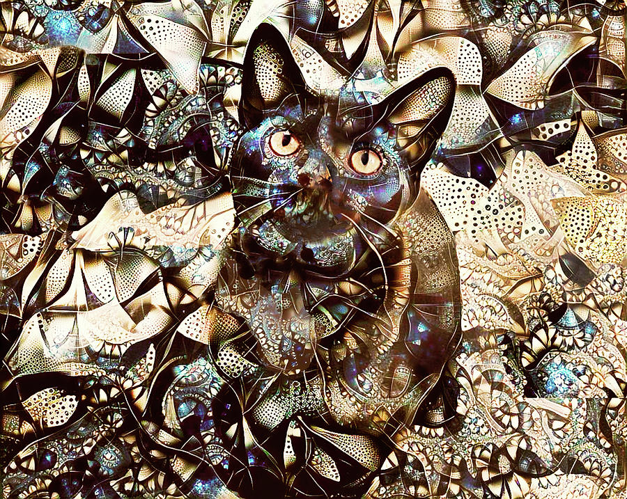 Versace the Black Cat by Peggy Collins