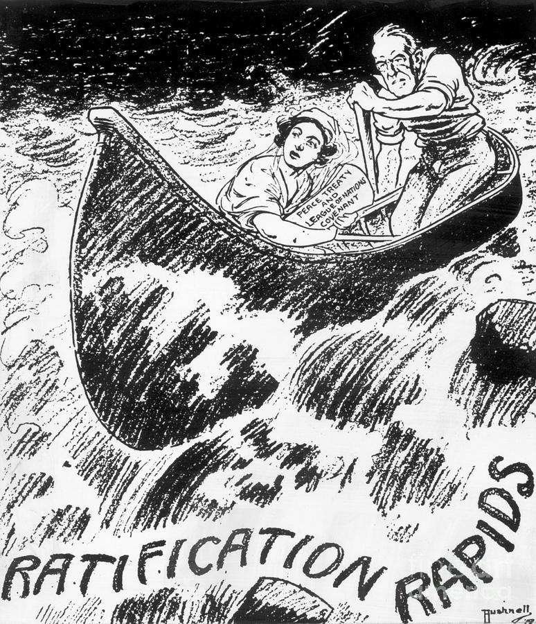 Versailles Treaty Political Cartoon Photograph by Bettmann