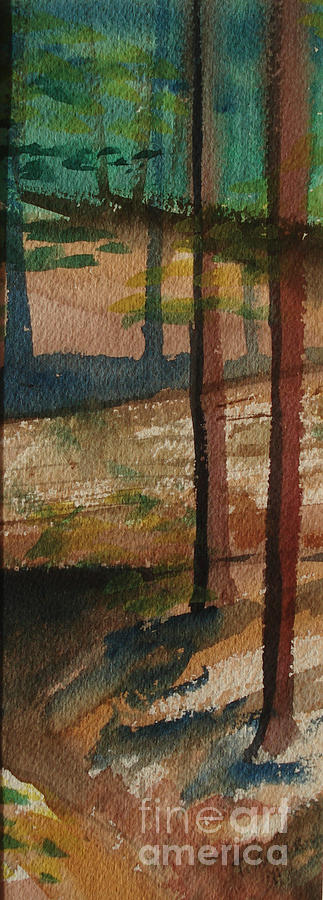 Woods Painting - Vertical Path by Tammy Nara