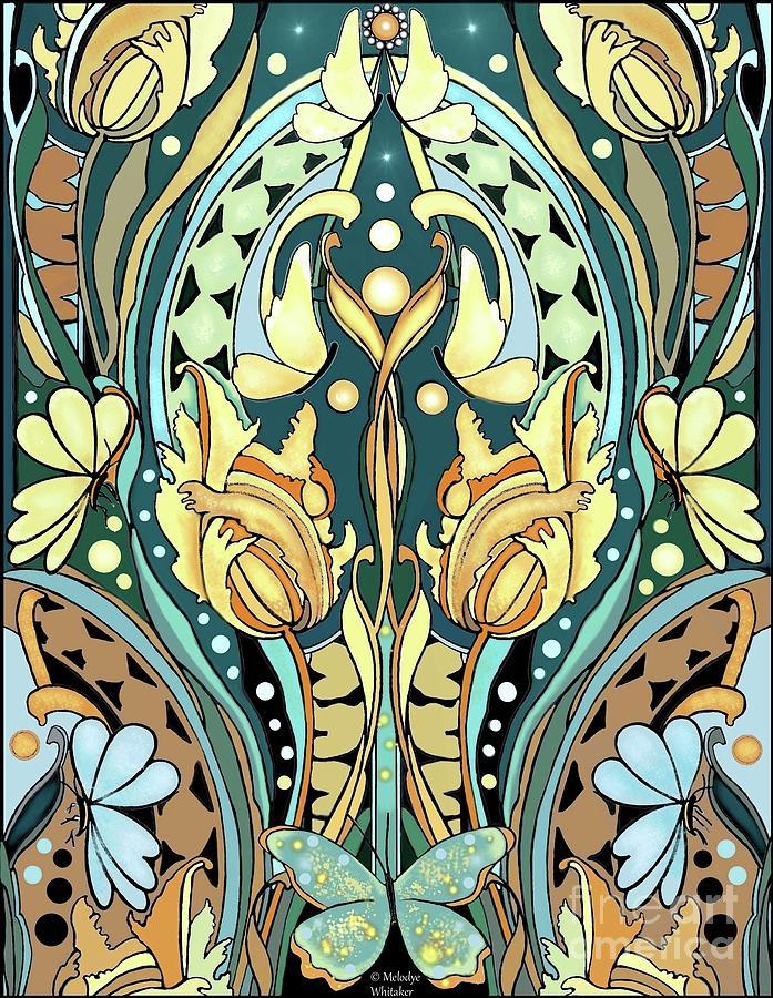 Very Art Nouveau Digital Art by Melodye Whitaker