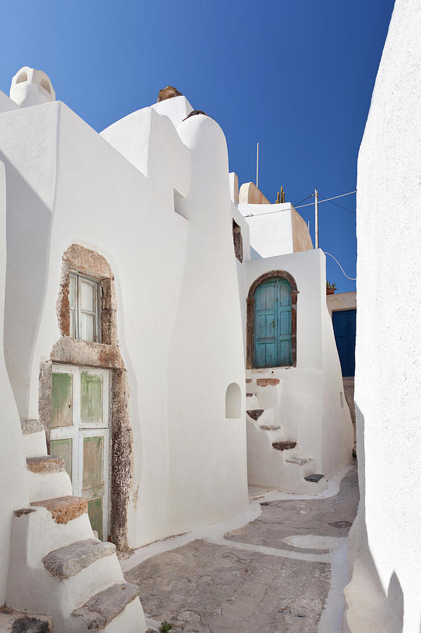 Very Small Doors In Emborio, Santorini Photograph by Michaelutech