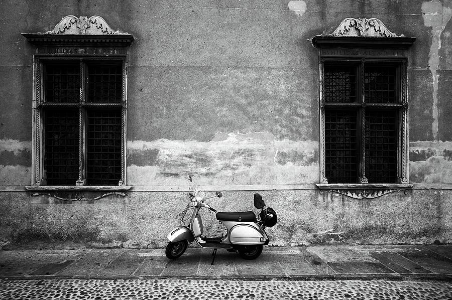 Vespa Piaggio. Black And White Photograph by Claudio.arnese