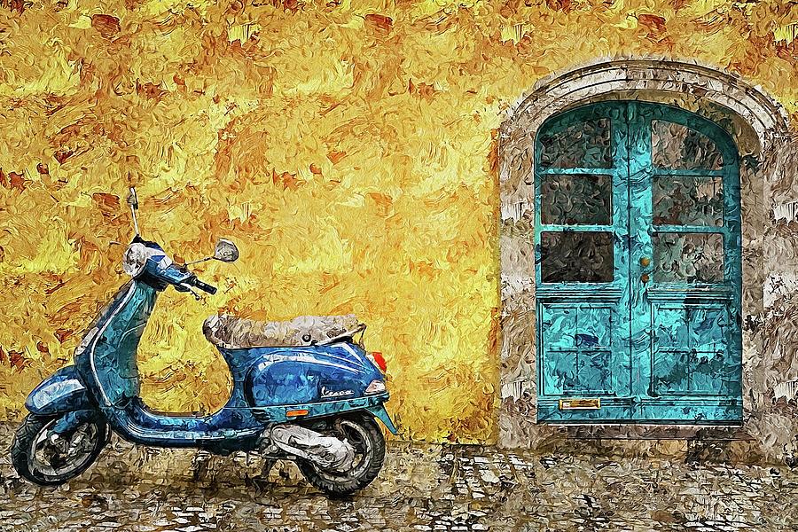 Vespa Scooter - 06 by Andrea Mazzocchetti