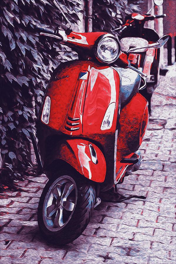 Vespa Scooter - 07 by Andrea Mazzocchetti
