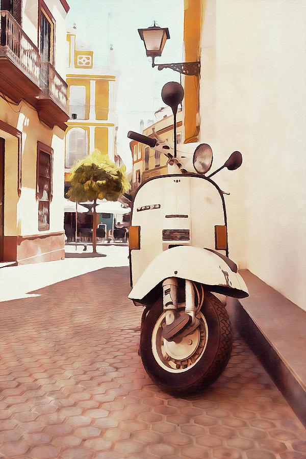 Vespa Scooter - 08 by Andrea Mazzocchetti