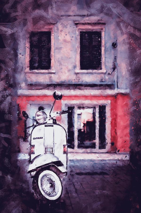 Vespa Scooter - 09 by Andrea Mazzocchetti