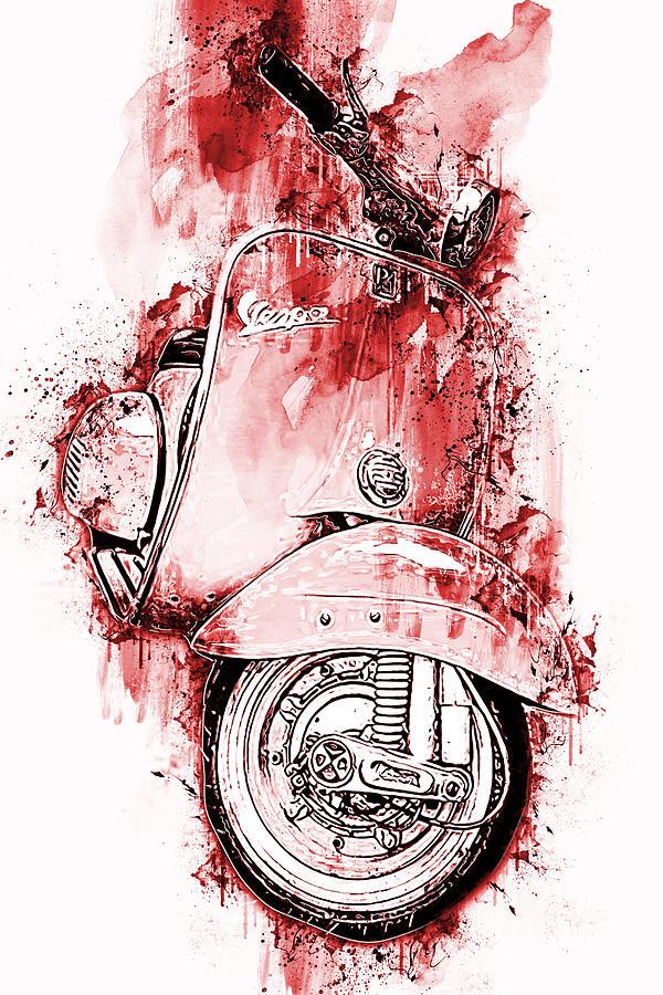 Vespa Scooter - 12 by Andrea Mazzocchetti
