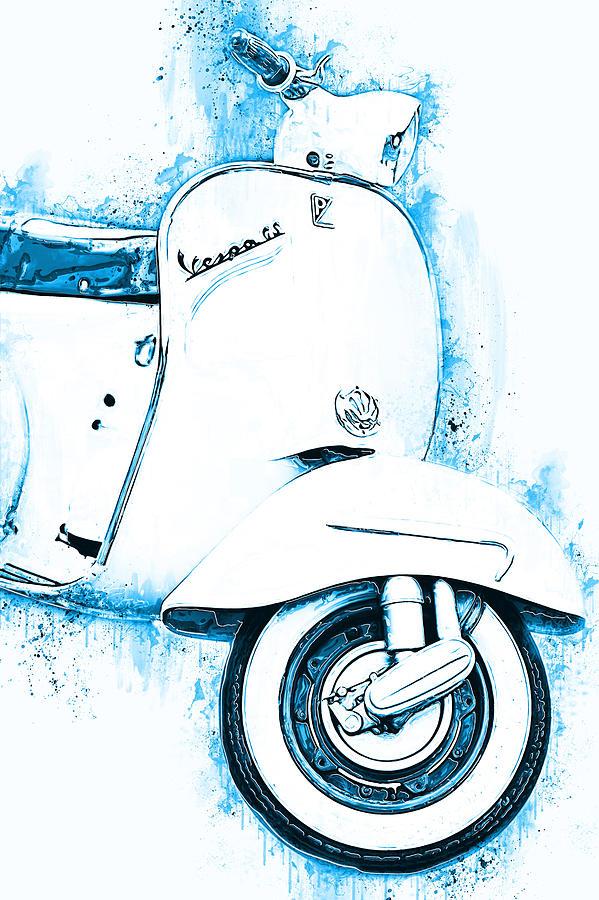 Vespa Scooter - 16 by Andrea Mazzocchetti