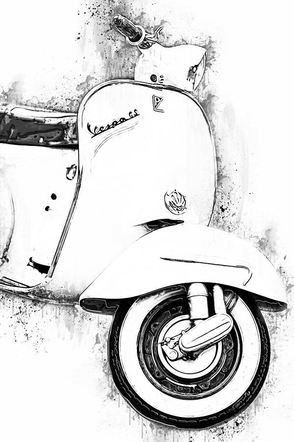 Vespa Scooter - 17 by Andrea Mazzocchetti