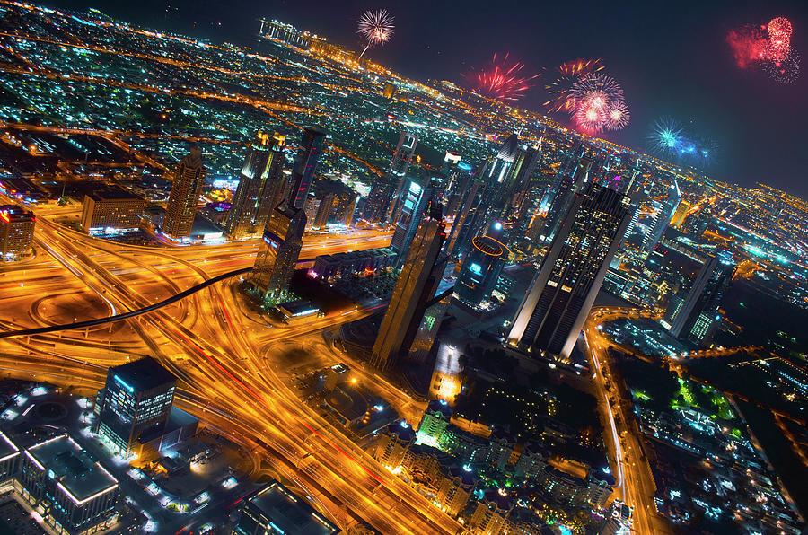 Vibrant Dubai Celebrating The New Year Photograph by Kiratsinh Jadeja