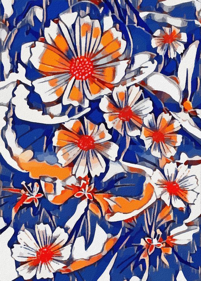 Vibrant Floral Abstrat Mixed Media