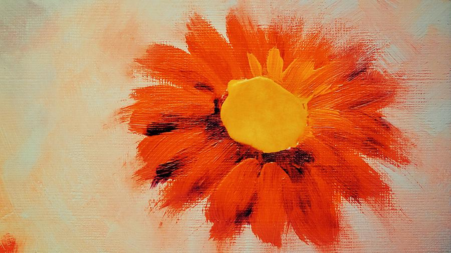 Vibrant Orange Sunflower by Joy of Life Arts