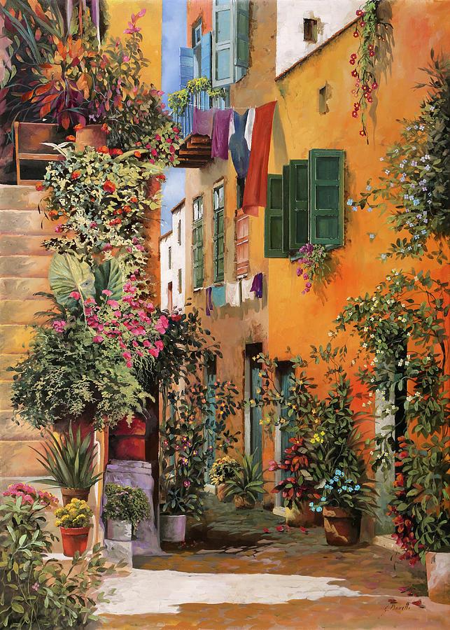 Crete Painting - vicolo a Creta by Guido Borelli