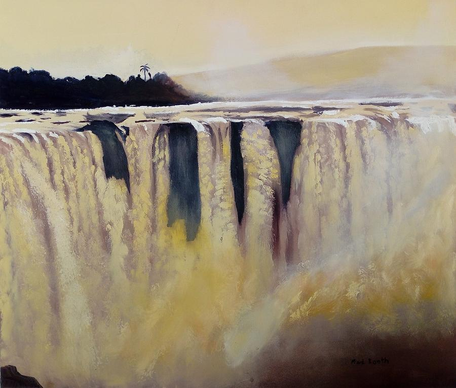 Waterfall Painting - Victoria Falls Zimbabwe Waterfall by Mark Booth