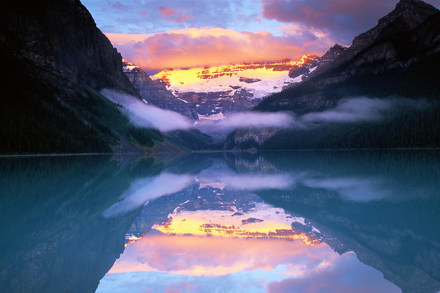 Victoria Glacier In Lake Louise, Canada Photograph by Art Wolfe