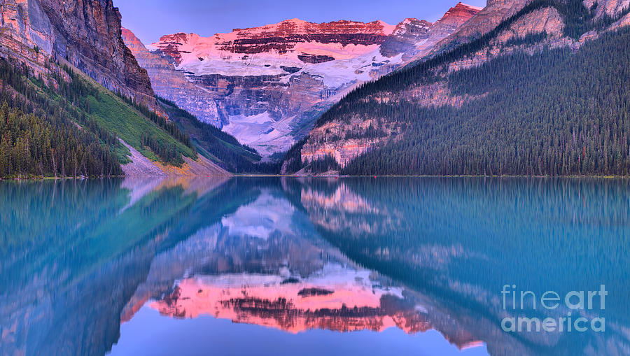 Victoria Glacier Lake Louise Reflections by Adam Jewell