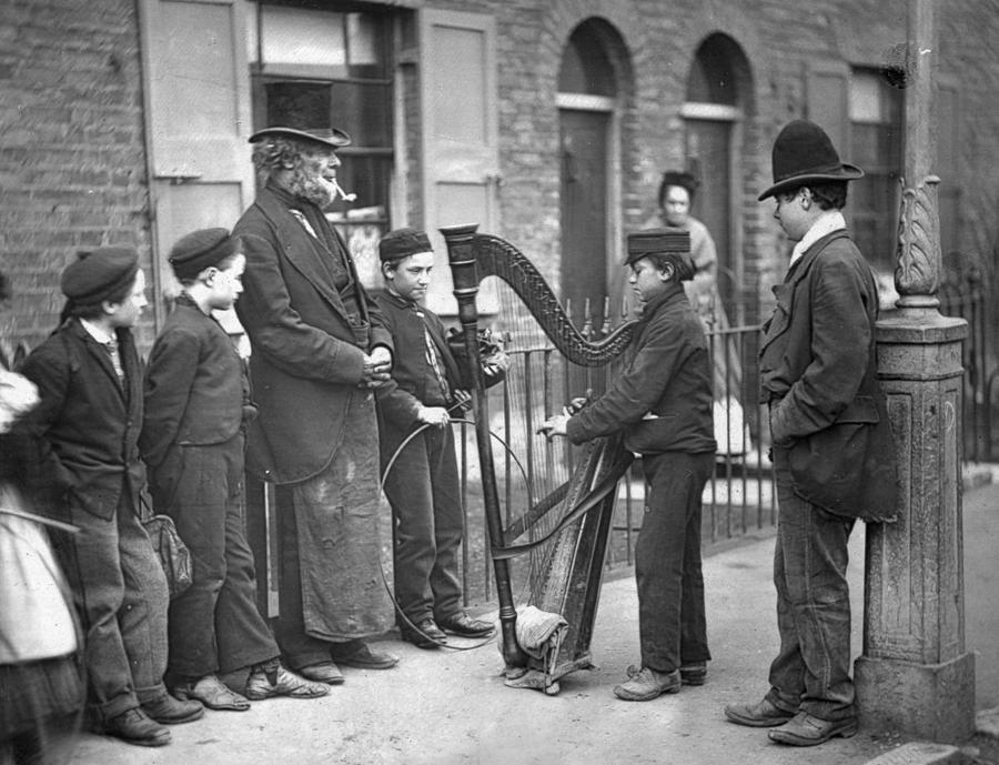 Victorian Busker Photograph by John Thomson