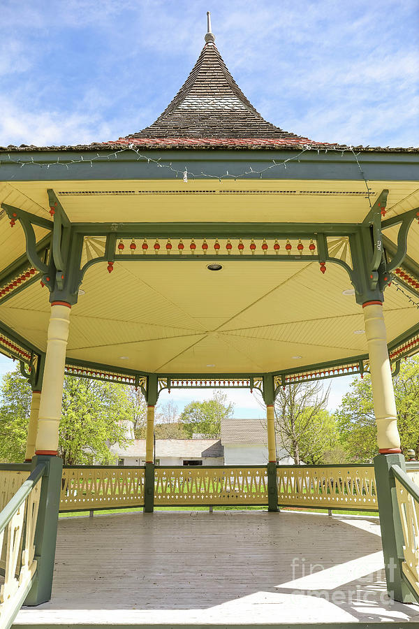 Victorian Gazebo Bandstand New Boston New Hampshire by Edward Fielding