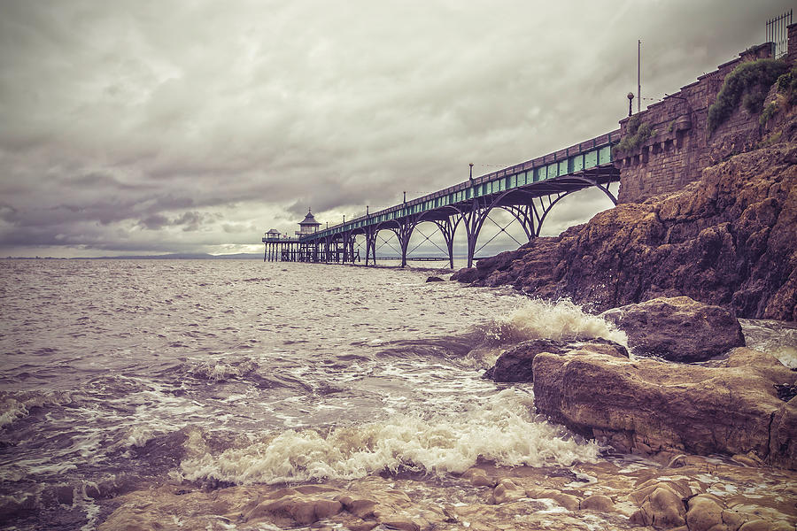 Victorian Pier On A Cloudy Day Photograph by Verity E. Milligan