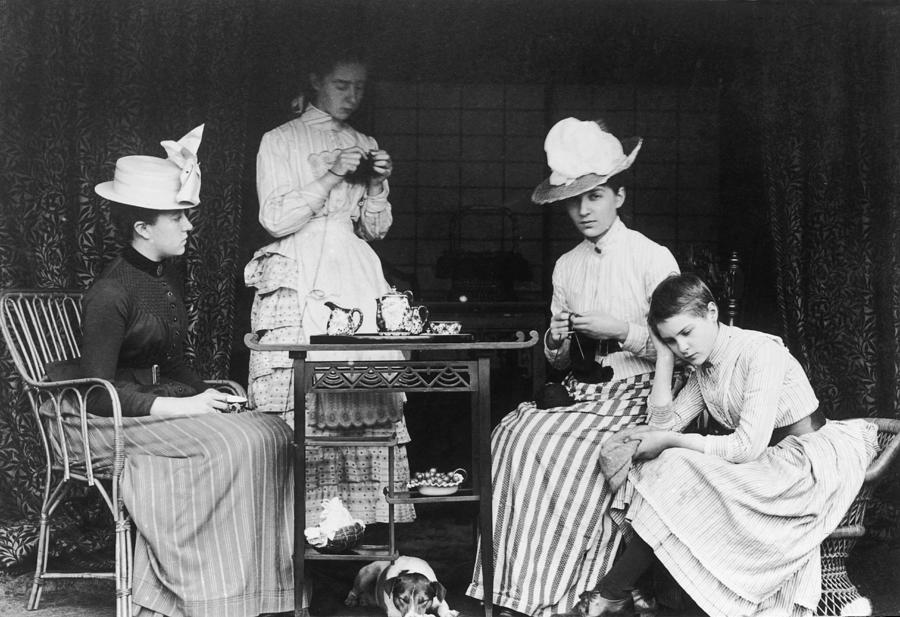 Victorian Teatime Photograph by Hulton Archive