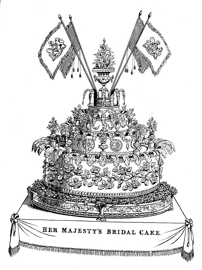Victorias Wedding Cake Photograph by Hulton Archive