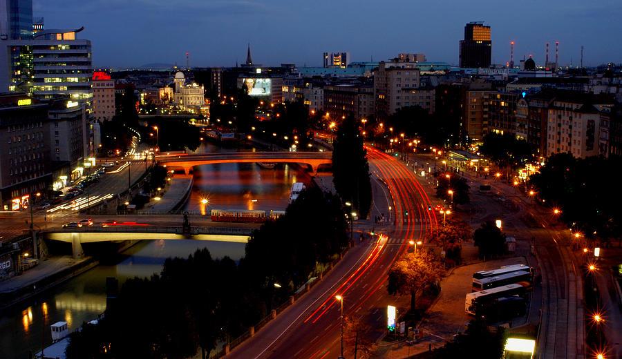 Vienna - City Night Lights Photograph