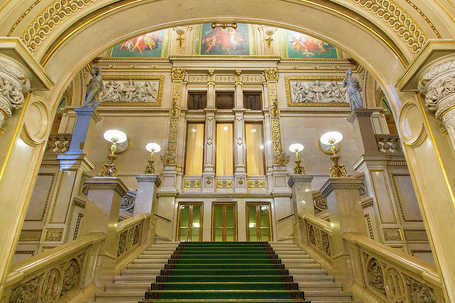 Vienna Opera House, The Main Hall Photograph by Sylvain Sonnet