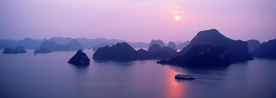 Scenic Photograph - Vietnam, Gulf Of Tonkin, Halong Bay by Andrea Pistolesi