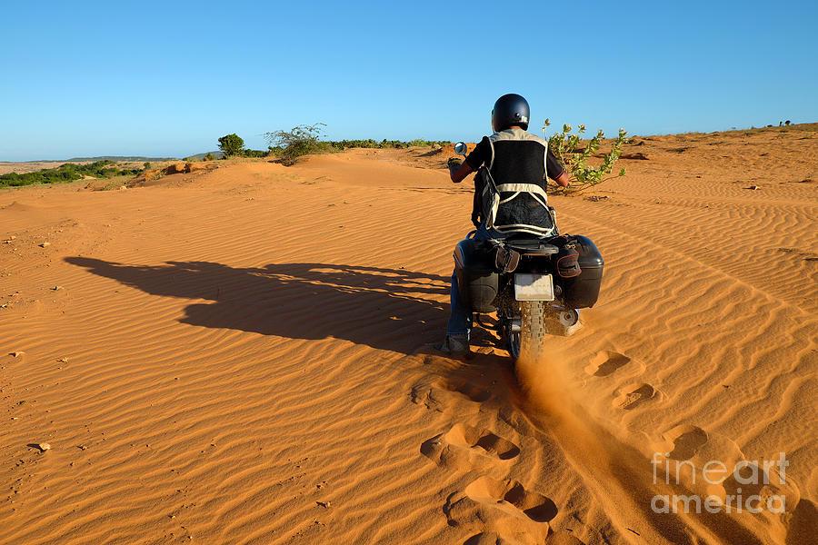 Motor Photograph - Vietnamese Man Travel To Adventure by Xuanhuongho