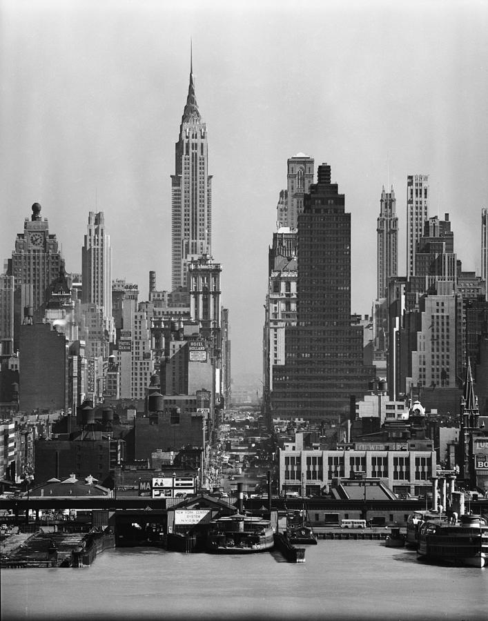 View Along 42nd Street Photograph by Andreas Feininger