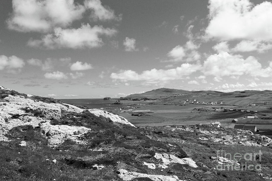 View At Malin Head Donegal Bw Photograph