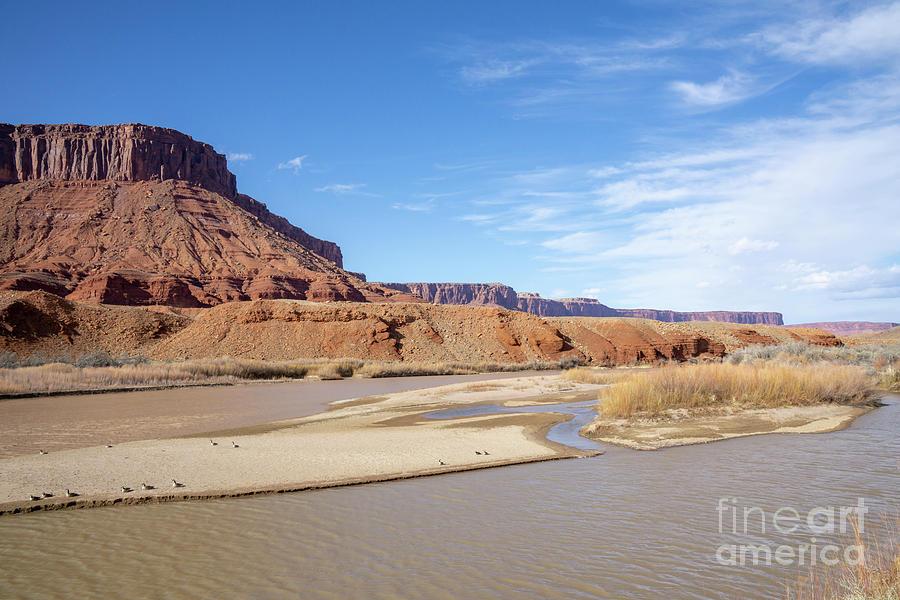 Colorado River Photograph - View At Sorrel River Ranch On The Colorado River Near Moab, Utah by William Kuta