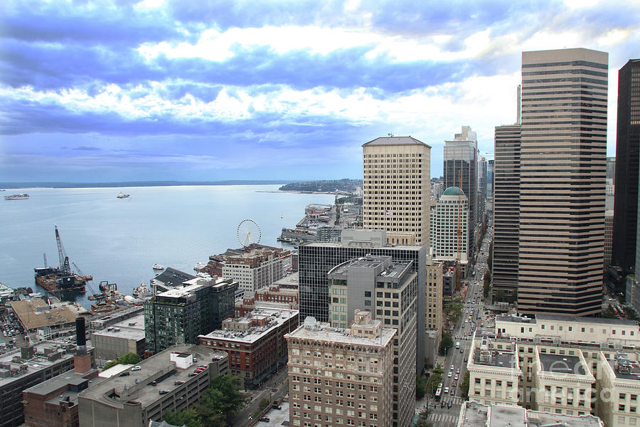 View fro the Smith Tower overlooking the Seattle waterfront 2019 by Mr Pat Hathaway Archives