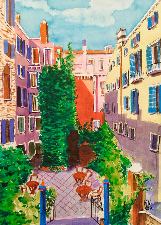 Venice Painting - View from a Room in Venice by Monika Arturi