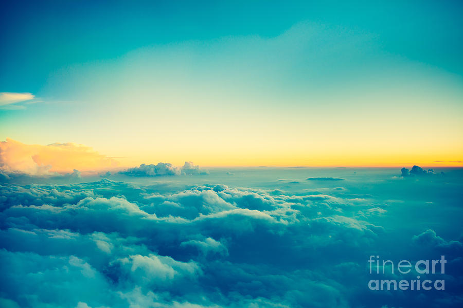 Atmosphere Photograph - View From Airplane Window To See Sky On by Blur Life 1975