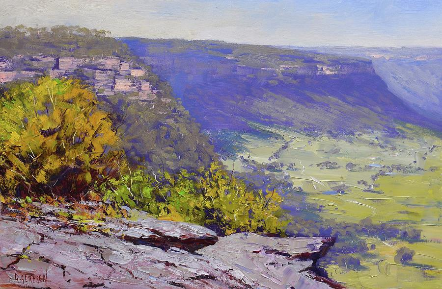View From Hassons Wall Lithgow Painting