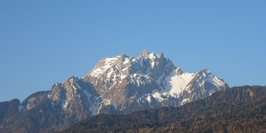 View From My Art Studio - Pilatus I - April 2019 by Manuel Sueess