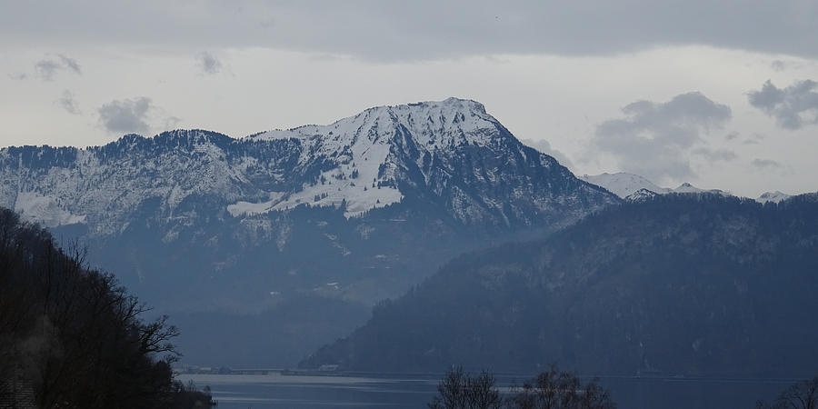 View from my art studio - Stanserhorn - March 2018 by Manuel Sueess